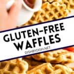 Pinterest image for gluten-free waffles