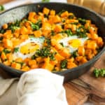 Sweet Potato & Kale Breakfast Skillet (GF, Paleo)