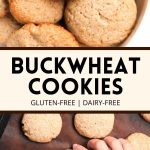 Pinterest collage for buckwheat cookies