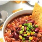 Pinterest image for chili con carne