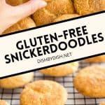 Pinterest image for Snickerdoodle cookies