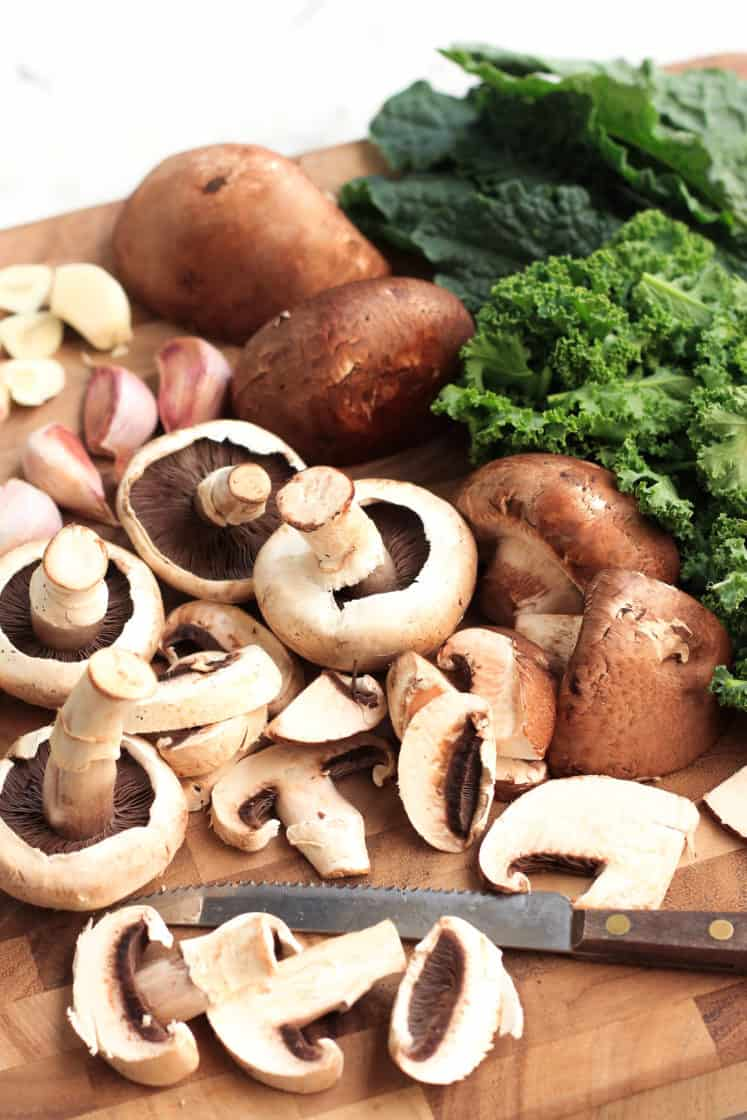 Warm Millet Bowl with Mushrooms & Kale (Gluten-free, Vegan)