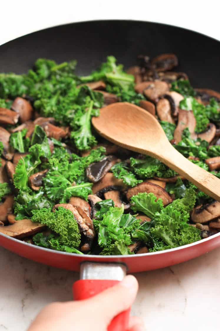 Warm Millet Bowl with Mushrooms and Kale - Dish by Dish