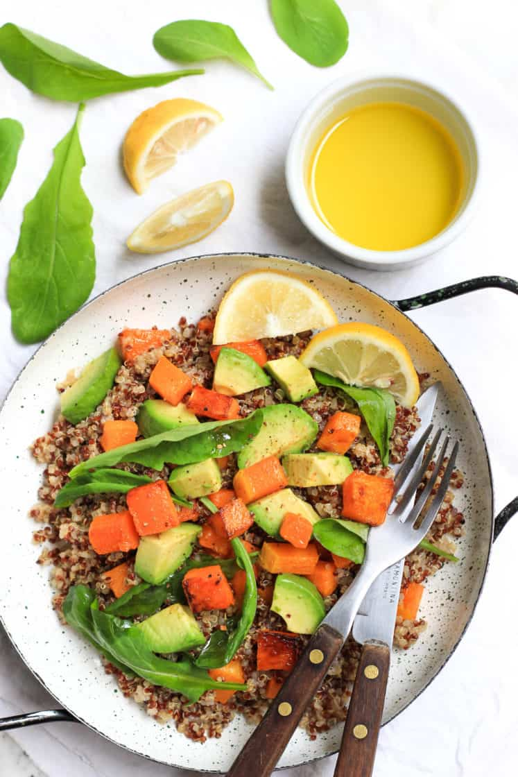 Warm Quinoa Salad with Butternut Squash, Avocado & Arugula ...Quinoa Salad With Avocado