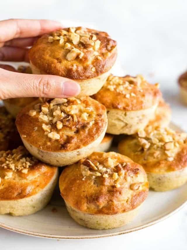 resized image of banana nut muffins